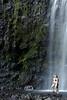 Bikini Clad ladies below the Wailua Falls in Hana, Maui