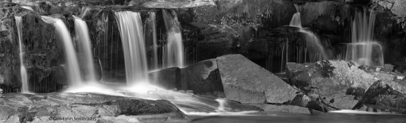 Jackson Waterfalls Black and White