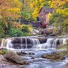 Glade Creek Mill in Autumn  9609 w47