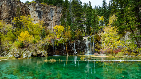 Crystal Clear Turquoise Blue Water of Hanging Lake