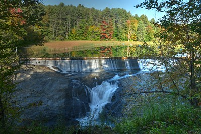Mill Pond Falls at Quechee Dam