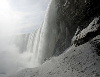 Base of Horseshoe Falls in Winter