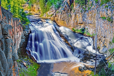 """""""Angel in the Water"""" Gibbon Falls Spring Flow, Yellowstone National Park"""