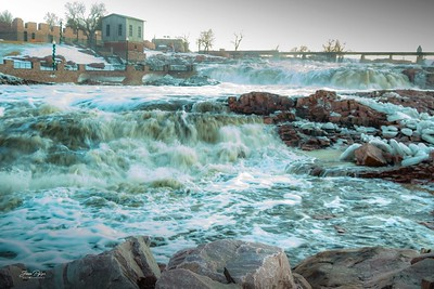 Falls park in Sioux Falls, South Dakota.  Enjoy and hold hands