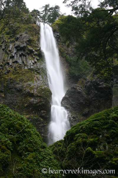 Starvation Creek Falls in the Winter, Columbia River Gorge, Oregon