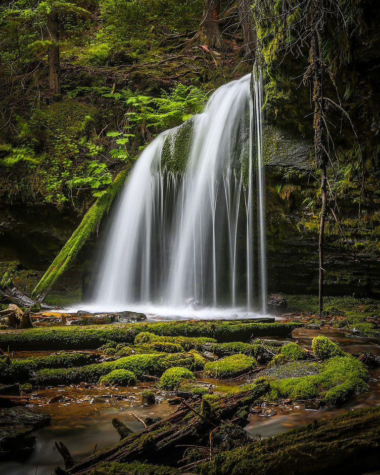 Fern Falls in the Idaho Panhandle