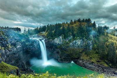 Sunrise on Snoqualmie Falls