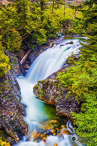"""The Plunge,"" Fall into the Wall, South Fork of the Snoqualmie River, Washington"