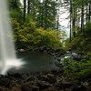 Ponytail Falls from behind the falls