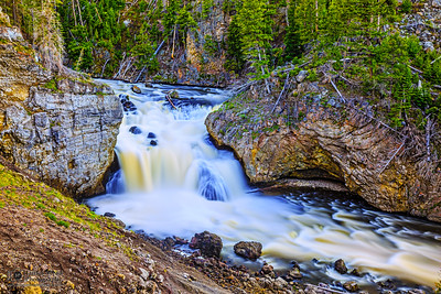 """""""End Over End,"""" Firehole Falls Spring Flow, Yellowstone National Park"""