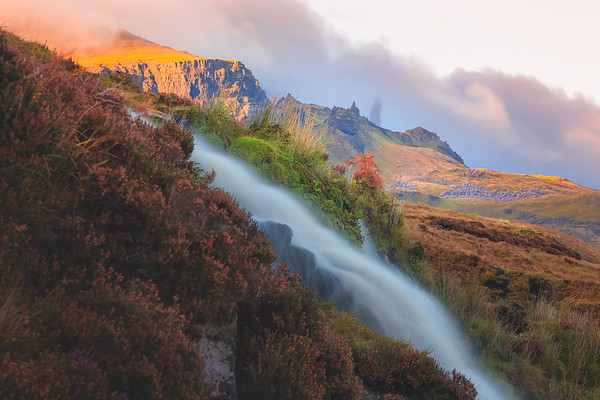 Bride's Veil Falls. Isle of Skye, Scotland