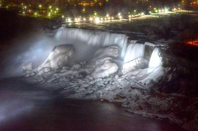 American Falls after dark