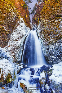 """Ice Box,"" Wahkeena Falls Deep Freeze, Wahkeena Falls, Columbia River Gorge, Oregon"