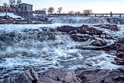 Falls Park in Sioux Falls, South Dakota.