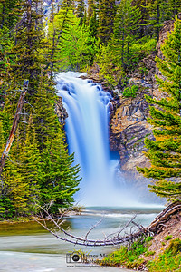 """Side By Side,"" Running Eagle Falls (Trick Falls), Glaicer National Park"