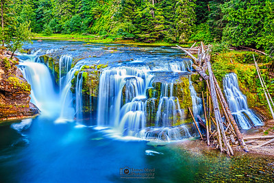 """Water Terrace,"" Lower Lewis River Falls, Gifford Pinchot National Forest"