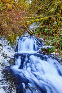 """Chilled Tranquility,"" Shepperd's Dell Deep Freeze, Youngs Creek, Columbia River Gorge, Oregon"