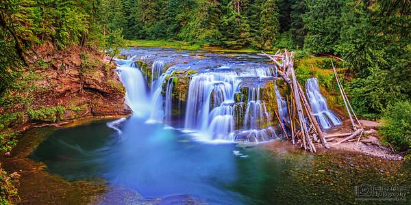 """Emerald Pools,"" Lower Lewis River Falls, Gifford Pinchot National Forest, Washington"