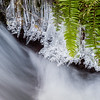Detail, Wahkeena Falls in Winter