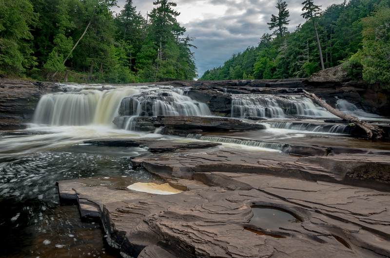 Manido Falls on the Presque Isle River in the Porqupine Mountains State Park, Michigan