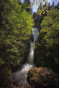 Bridal Veil Falls, Columbia River Gorge, Oregon. Not to be confused with the hundreds of other Bridal Veil falls across the country.