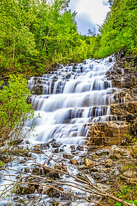 """""""Water Staircase,"""" Silver Staircase Falls, Glacier National Park, Montana"""
