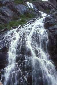 Waterfall at Portage Glacier