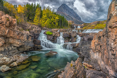 Stormy Swiftcurrent Falls