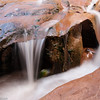 A small waterfall in Coyote Gulch in Grand Staircase Escalante National Monument.
