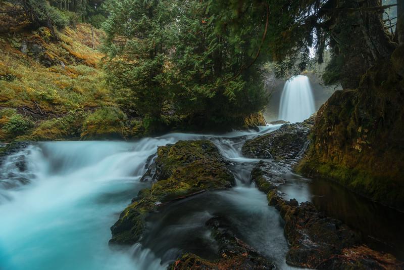 Sahalie Fallsi n the Willamette National Forest, Oregon