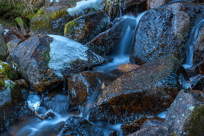 Icy Cold Waterfall somewhere deep in Rocky Mountain National Park