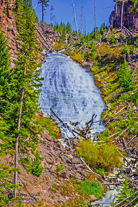 """""""Hole in the Wall,"""" Wraith Falls, Yellowstone National Park"""