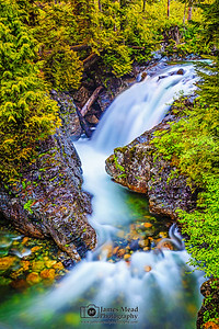 """The Escape,"" Fall into the Wall, South Fork of the Snoqualmie River, Washington"