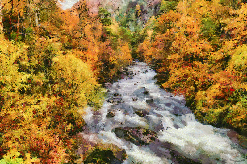 Aberglaslyn in Autumn