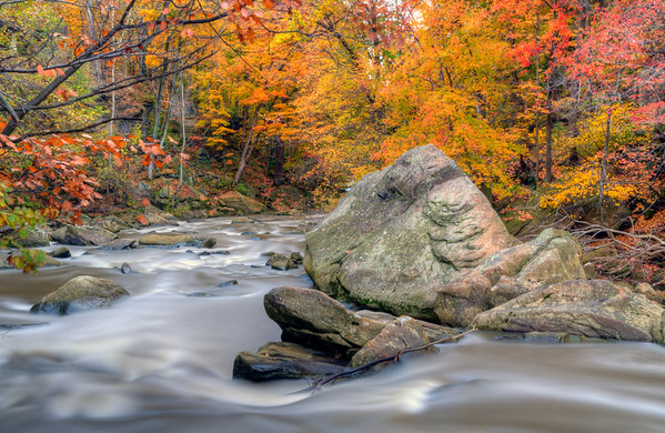 The flowing fall
