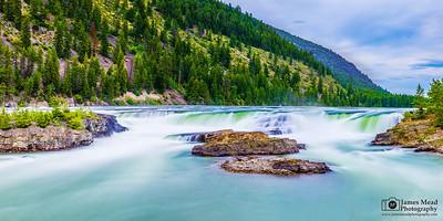 """Emerald River,"" Kootenai Falls, Montana"