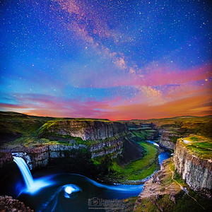 """Perpetual Beauty,"" Milky Way Sunrise over Palouse Falls, Palouse Falls State Park, Washington"