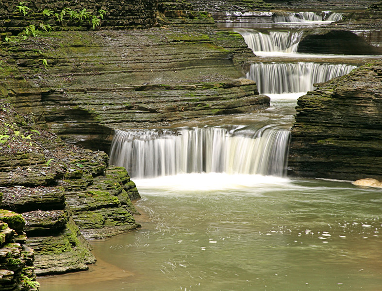 Layered Waterfalls_Watkins Glen_NY
