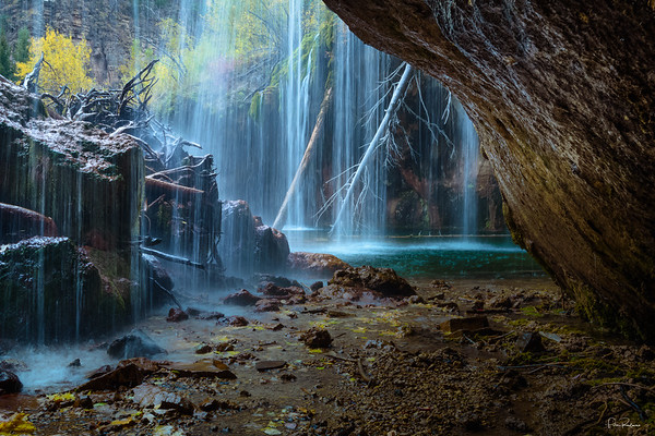 Hanging Lake Waterfall