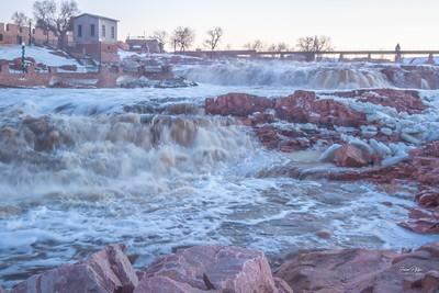 Falls Park, Sioux Falls, South Dakota.  Enjoy and hold hands.