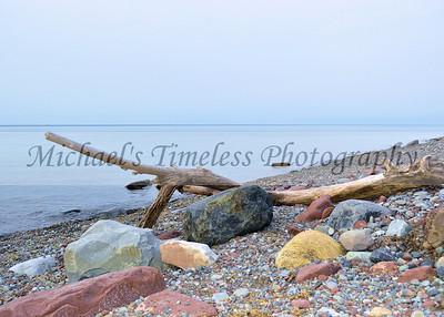 Drift Wood & Colorful Rocks - 5 x 7