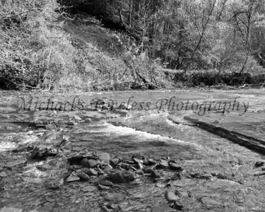 Hidden Brook - Sprague Brook Park - 8 x 10 Black and White