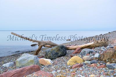 Drift Wood & Colorful Rocks - 4 x 6