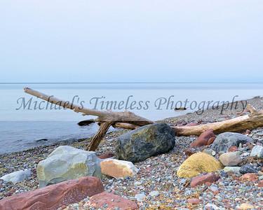 Drift Wood & Colorful Rocks - 8 x 10