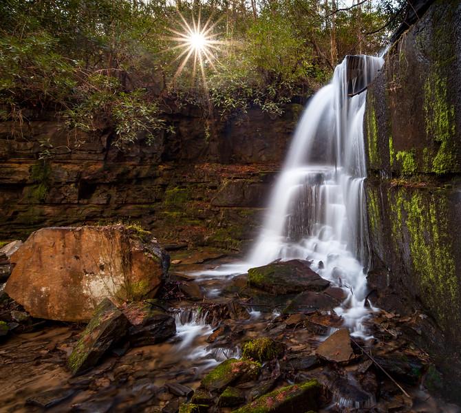 Sun and Shadows at Bad Branch Falls
