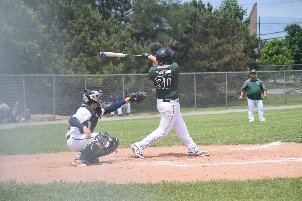 . Waterford Mott won a district baseball championship on Saturday which also involved Waterford Kettering, Clarkston and Oxford. (Photo by Paula Pasche)