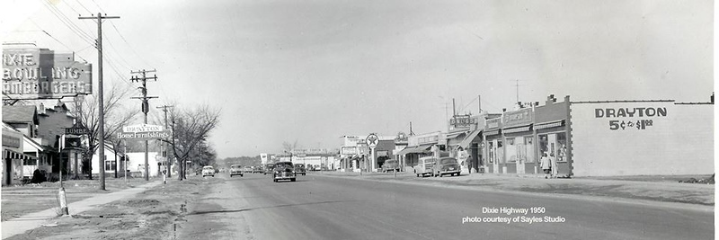 . Dixie Highway, before Frembes Road was built.