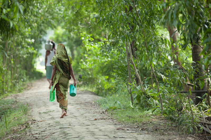 Women and girls often spend up to 6 hours each day collecting water.