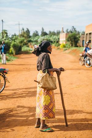 A woman in Rwanda.
