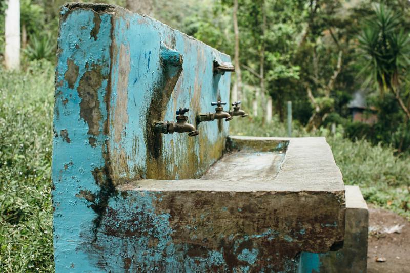 Water taps in Honduras.